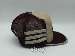 Vintage 3 Stripe Sundowner Reno Snapback Trucker Hat Cap Made In The USA Trois