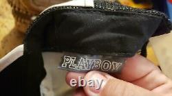 Vintage 70s 80s Playboy Magazine 3 Stripe Snapback Chapeau De Camionneur Casquette Noir Et Blanc