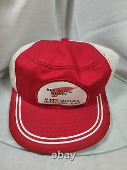 Vintage 80's Red Wing Shoes Patch Trucker Hat Mesh Cap USA Two-tone Snapback Nos