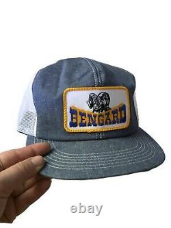Vintage 80s K Produits Denim Snapback Trucker Chapeau Trucking Patch USA