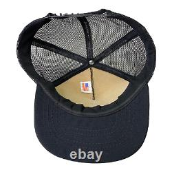 Vintage Années 80 Dont Ruffle My Feathers Eagle Flag USA Black Mesh Trucker Hat Cap