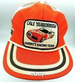 Vintage Cale Yarborough 3 Stripe Trucker Hat Snapback Hat Baseball Cap USA Made