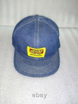 Vintage Camionneur Kent Denim Snapback Hat Cap Feed Grain Seeds Farmer