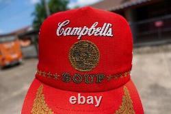 Vintage Campbell Soup 3 Bande De Chapeau Chapeau De Camionneur Mesh Snapback