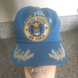 Vintage Cap Trucker Hat États-unis Air Force 3 Stripes Snapback Fabriqué Aux États-unis