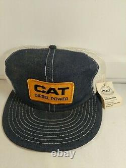 Vintage Cat Diesel Puissance Camionneur Snapback Louisville Mfg USA Patch Vtg