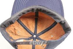 Vintage Cat Louisiana Machinery Denim Snapback Trucker Patch Hat Cap USA Rare