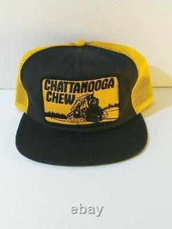 Vintage Chattanooga Chew Tobacco Mesh Trucker Snapback Chapeau/cap Made Aux États-unis