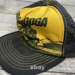 Vintage Chattanooga Chew Trucker Hat Cap Mesh Snapback Tobacco Train Rare