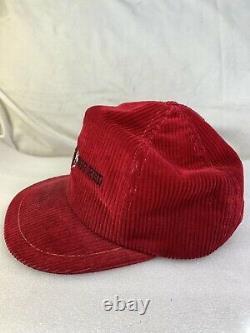 Vintage Cornell University Big Red Corduroy Snapback Chapeau De Camionneur