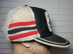 Vintage Dale Earnhardt 1987 Winston 3 Stripe Trucker Mesh Snapback Hat USA (r1)