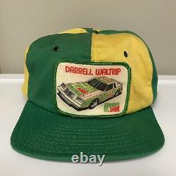 Vintage Darrell Waltrip Mountain Dew Racing #11 Patch Trucker Snapback Cap Hat