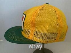 Vintage Dekalb Seed Hobbs K Marque Full Trucker Snapback Patch Hat Cap Rare Vhtf