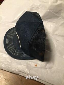 Vintage Denim Snapback Trucker Hat Phillips 66 Farm Lubrifiants Cap K-brand USA