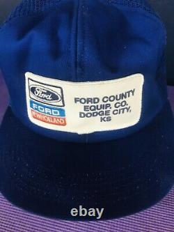 Vintage Ford New Holland Trucker Snapback Patch Mesh Cap K-products Brand Hat