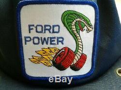 Vintage Ford Puissance Cobra Camionneur Snapback Patch Am / Fm Radio! Travaux, Rare