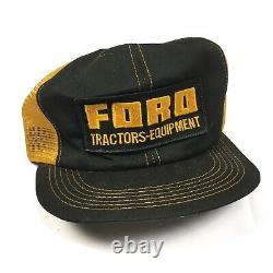 Vintage Ford Tractors Équipement Snapback Trucker Hat Cap 70s 80s K Produits Nice