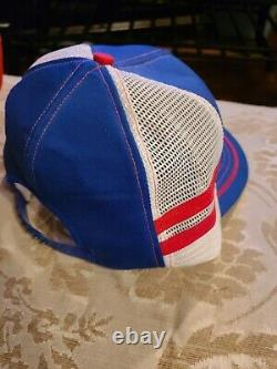 Vintage Go North American, Snapback Trucker Patch Hat / Casquette Red Striped