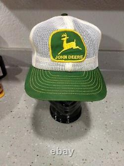 Vintage John Deere All Mesh Snapback Trucker Patch Cap Hat Louisville Mfg Co Etats-unis