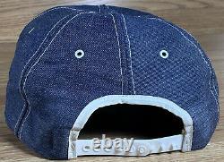 Vintage John Deere Component Works Denim Trucker Cap Hat Snapback Louisville 70s