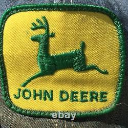 Vintage John Deere Denim Chapeau Snapback Tracteur Patch Fermier Trucker USA Foire