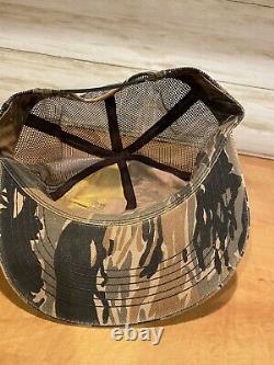 Vintage John Deere Harvester Snapback Trucker Hat Camo Cap K Products USA Rare