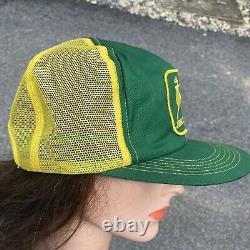 Vintage John Deere Mesh Snapback Hat Cap K-products Trucker Hat Big Patch