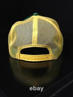 Vintage John Deere Patch Green Yellow Mesh Trucker Hat Snapback Cap K-products