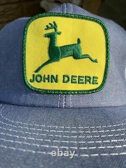 Vintage John Deere Patch K-produits Marque Snapback Trucker Chapeau De Denim Cap