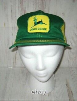 Vintage John Deere Patch Vert Jaune Maille Trucker Hat Snapback Cap K-products
