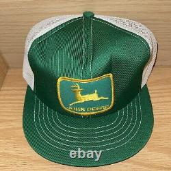 Vintage John Deere Snapback Hat Cap Hommes Mesh Patch Trucker Swingster Kansas USA