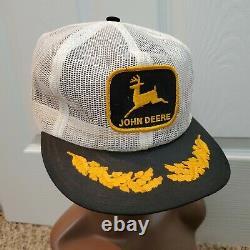 Vintage John Deere Snapback Trucker Hat Full Mesh Patch Cap Louisville États-unis