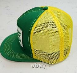 Vintage John Deere Snapback Trucker Hat Mesh Patch Cap K Products Made In USA