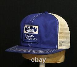 Vintage K Products Brand USA Made Trucker Hat Snapback Cap Ford Tractors Patch