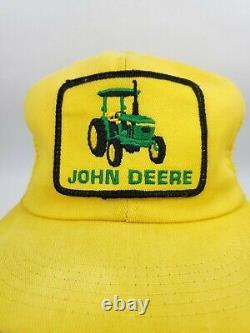Vintage K-brand John Deere Patch Snapback Hat Mesh Trucker Cap Tracteur Rare