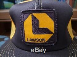 Vintage Lawson Patch Snapback Casquette De Camionneur, Casquette De K-produits, Made In USA