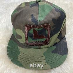 Vintage Lawson Trucker Hat Snapback Cap Patch K Brand Product USA Farm Full Camo