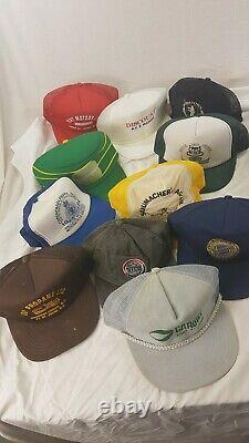 Vintage Lot 45 Random Trucker Hat Snapback Mesh Patch Cap Mixed 80s 90s Sports
