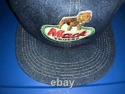 Vintage Mack Trucks K Produits Denim Mesh Trucker Snapback Hat Cap Patch Etats-unis