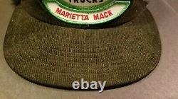 Vintage Mack Trucks Noir Corduroy Snapback Camionneur Cap Patch Louisville USA