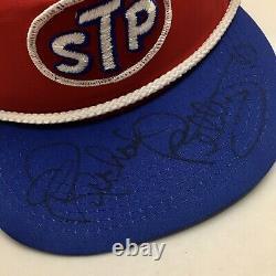 Vintage Monnaie Richard Petty Autographié Stp Chapeau De Corde De Baseball Cap Nascar Unworn