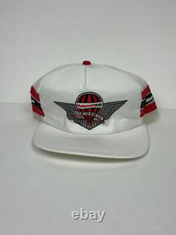 Vintage Motorcraft 3 Stripe Trucker Hat Snapback Cap Air Force Rare Brand Nouveau