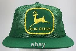 Vintage Nos John Deere Trucker Chapeau Snapback Capback Patch Mesh K-marque USA Nouveau