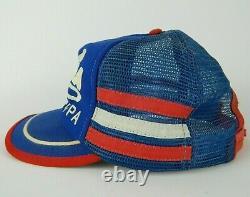 Vintage Pepsi Cola Kecksburg, Pa Trucker Cap 3 Stripe Snapback Hat Mesh