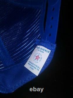 Vintage Pepsi Cola Mesh Trucker Snapback Cap Hat New Old Stock 80s Etats-unis Made
