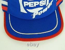 Vintage Pepsi Power 3 Stripe Cola Trucker Cap Cap Snapback Chapeau Mesh Rouge Blanc Bleu
