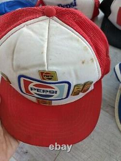 Vintage Pepsi Trucker Cap Hat Lot De 6 Annonces Privées