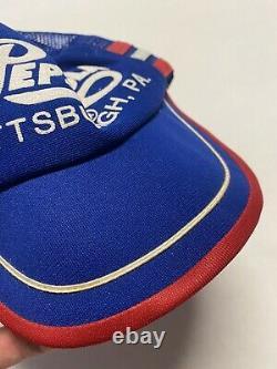 Vintage Pepsi-cola 3 Stripe Snapback Trucker Hat Cap Red White Blue Pittsburgh