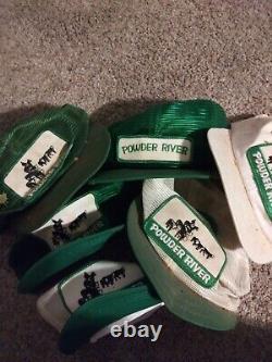 Vintage Powder River K Marque Trucker Meshback Snapback Hat Cap 90 Rare Lot