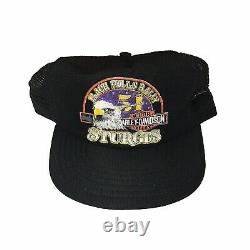 Vintage Rare Harley Davidson Snapback Trucker Hat Cap USA Made Sturgis